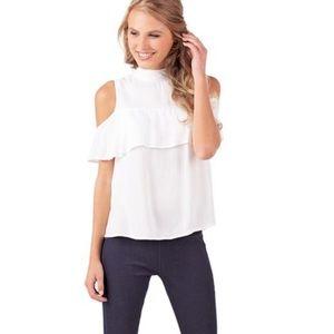 Mudpie white Gemma cold shoulder top
